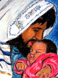 14 October 2011 Jesus kissing His child