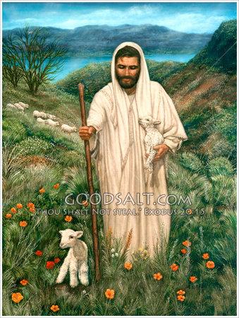 10 October 2012 good-shepherd-christ-as-shepherd-with-two-lambs-GoodSalt-lmlas0008