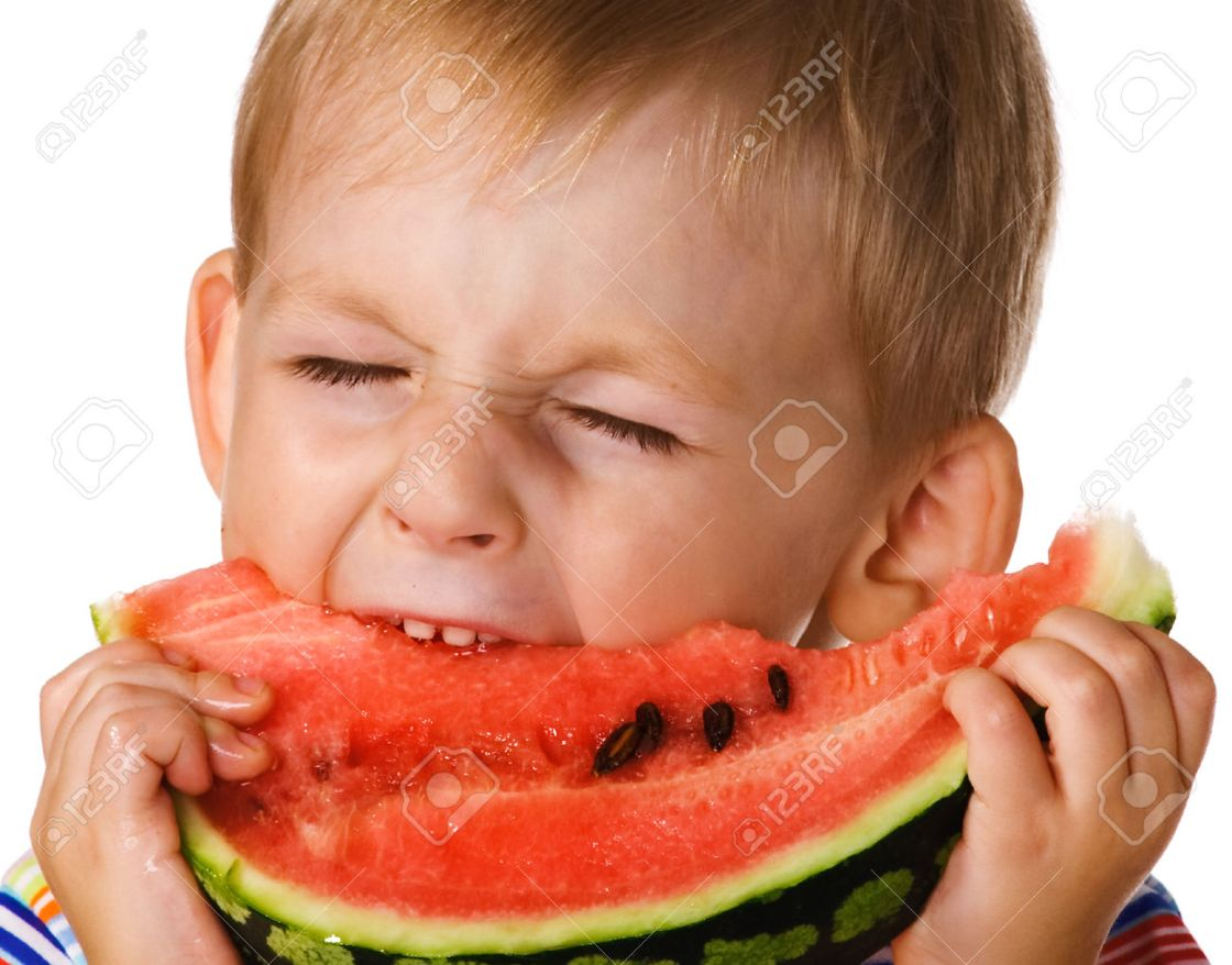 The child with a water-melon