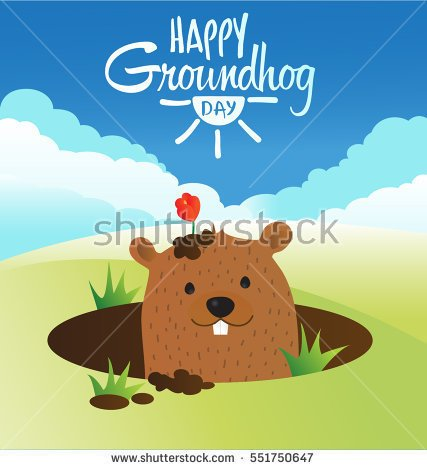 stock-vector-happy-groundhog-day-vector-design-with-cute-marmot-character-advertising-poster-or-flyer-template-551750647
