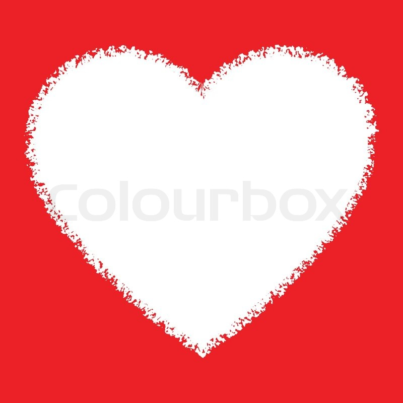 12100332-white-hand-drawn-grunge-heart-logo-on-red-background