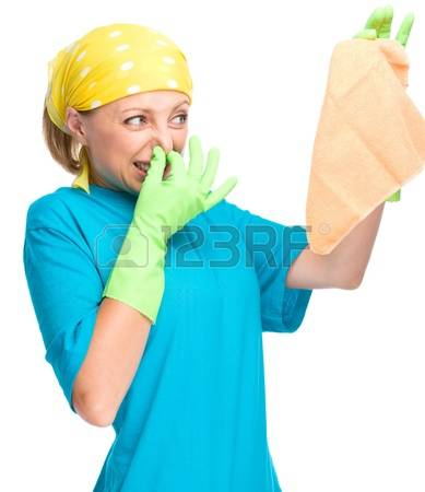 21000358-young-woman-as-a-cleaning-maid-holding-rag-and-pinching-her-nose-because-of-bad-smell-isolated-over-