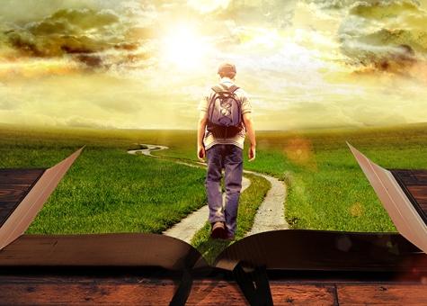Man-Walking-on-Path-Leading-Through-Bible-1A-preview