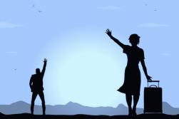 Woman-Waving-Goodbye